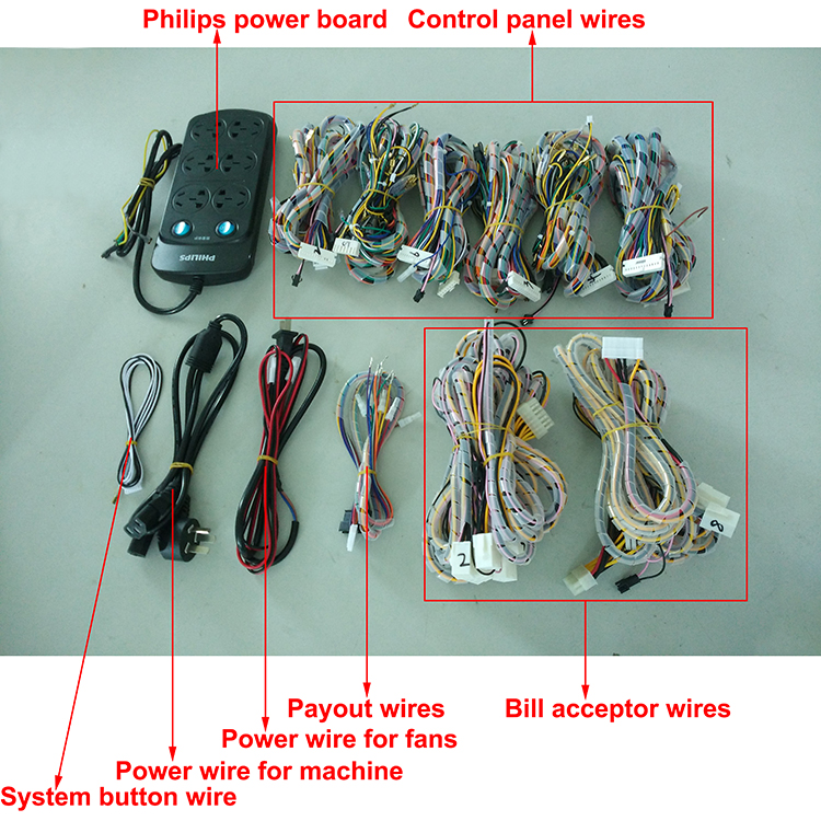 6 Player Fish Machine Wiring Harness For Igs And China Game Kits